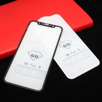 Tempered Glass, Anti Gores Kaca Full Cover iPhone X 6D