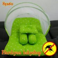 set kasur bayi kelambu lipat selimut tas bayi popok bedong