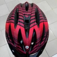 Jual Helm Sepeda Polygon Volt Merah New Diskon
