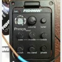 Fender Fishman Presys Plus 201 Acoustic Guitar Pickup & Preamp Built