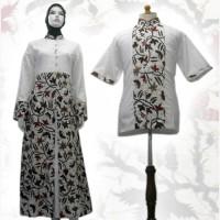Model Baju Gamis Batik Couple Kombinasi Terbaru - Busana Muslim SA-545