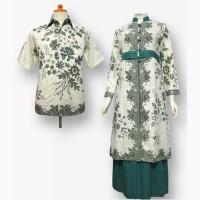 Model Baju Gamis Batik Couple Kombinasi Terbaru - Busana Muslim SA-317