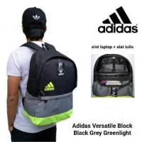 Harga best seller tas adidas versatile block black grey greenlight t | Hargalu.com