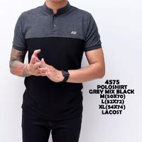 BAJU PRIA Kaos Polo Shirt Pria | baju Cowok Polo Shanghai Black Mix