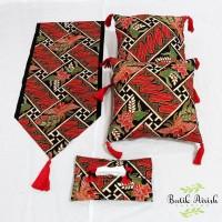 HOMESET SBK | Set Sarung Bantal Batik Primis Tassel | Parang Mulyo
