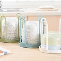 Rak untuk susun mangkuk dapur organizer simpan alat makan - HPD058