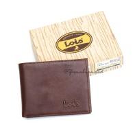 Dompet Kulit Sapi Asli Pria Branded Original Lois LW-603 Mix Brown