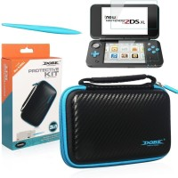 Protective kit for New Nintendo 2DS XL, Case, Screen Protector, Stylus