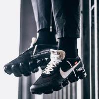 Harga Sepatu Pria Nike Air Vapormax Flyknit x Offwhite Black White Premium  | DEMO GRABTAG