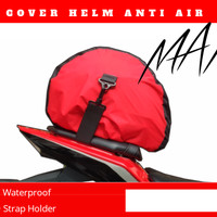 cover helm anti air sarung helm anti air waterproof taslan