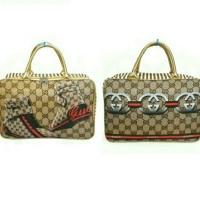 Tas Travel Bag Koper Kanvas Renang Besar Anak Dewasa Sepatu Gucci