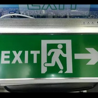Lampu EXIT LED / Lampu Petunjuk Darurat / Emergency EXIT Lamp/Acrylic