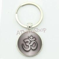 Gantungan Kunci Namaste Ganci Logo Yoga Simbol Namaste