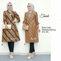 TUNIK BATIK SOGAN KLASIK #2 - TUNIC / DRESS / HIJAB / BAJU BATIK SOLO