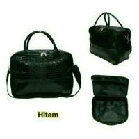 Travel Bag Fashion Tas Koper Selempang Tas Mudik Kulit Buaya Hitam