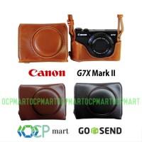 Leather Case Canon G7X mark II Tas kulit Canon G7X mark 2 Case G7X