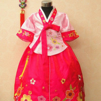 hanbok dress baju korea tradisional anak