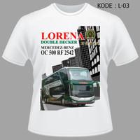 JUAL Kaos Bis Lorena Double Decker Baju Bus Jetbus Bmc Bismania Comuni