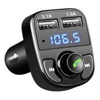 Bluetooth Audio Receiver FM Transmiter Handsfree w/ USB Car Charger