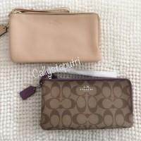 Dompet Coach F54057 Large Double Zip Wallet Wristlet