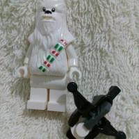 Lego Minifigure Star Wars White Snow Chewbacca