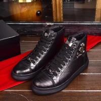 Jual sepatu hightop branded pria cowok philips plein mirror quality