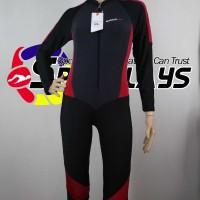Baju Renang Panjang Speedo Diving Cewek Hitam Merah New Model