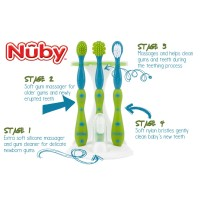 Nuby Oral Care Set 4 Stage Toothbrush Tooth and Gum Care Sikat Gigi