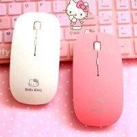 Promo Mouse Wireless Super Slim Hello Kitty Character 2.4Ghz