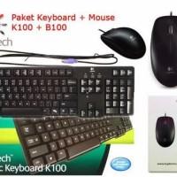 Dijual Keyboard Dan Mouse Logitech K100 B100 Limited