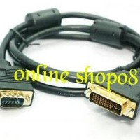 Dijual Kabel Vga Male Db15 (Rgb) To Dvi - I Male Pin 24+5 High Quality