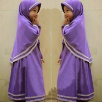 [Syari Anak Hanifa Lavender SW] baju muslim anak perempuan jersey