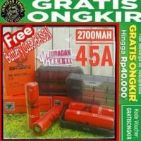 PROMO BATTERY BASEN 2700MAH 45A - 18650 2700 MAH 45 A - NOT AWT MXJO