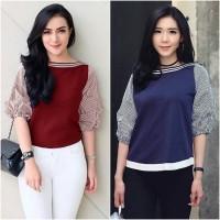 baju model sekarang butik online murah Tria Strip