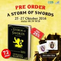 BUKU NOVEL TERBARU A Storm of Swords (Game of Thrones #3) Bonus Stiker