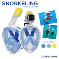 ALAT SELAM SNORKLING TRIBORD SUBSEA EASYBREATH SNORKLING MUSK (OR-02)