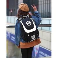 Tas Punggung Ransel Hitam Kuliah Wanita Import Fashion Bagpack Kece