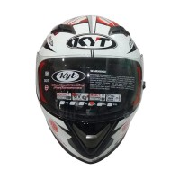 KYT Vendeta 2 Aleix Espargaro Helm Full Face - Red Fluo