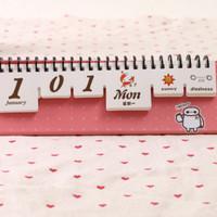 Moody Desk Calendar / kalendar meja lucu agenda cuaca dan mood