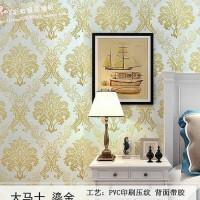 Damask Gold 45cm x 10mtr Wallpaper Sticker