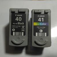 tinta printer Canon 40&41 perpasang seken kosongan
