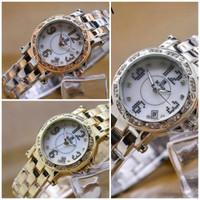 jam tangan rantai bonia stainless wanita elegan mewah silver gold emas