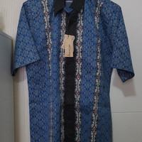 Kemeja Batik Pria Mahaputra (Sutra)
