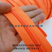 Resleting Zipper YKK Orange Meteran No 5