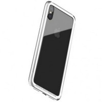 Bumper Hard & Soft Border Case for iPhone X - Silver