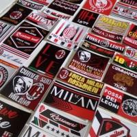Stiker AC Milan, Curva Sud Milano, Rossoneri, Diavolo Rosso - New
