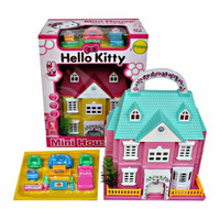 JUAL Mainan Rumah Villa Istana model Hello Kitty -2 lantai Dus