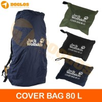 Rain Cover bag 80 Liter JWS Jack Wolfskin tas ransel Carrier gunung