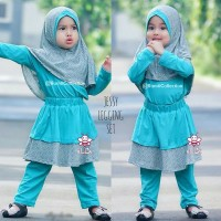 fashion anak I baju muslim anak perempuan I setelan gamis bayi I Jessy