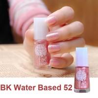 (52) Glitter Pink BK Peel Off Nail Polish Kutek Halal Water Based
